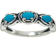 Carolyn Pollack Simply Fabulous Sterling Silver Three Gemstone Ring - J347438