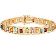 Imperial Gold 8 Multi-Gemstone Lame Bracelet, 14K, 28.8g - J349338