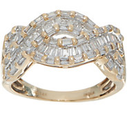 Baguette White Diamond Bold Ring, 14K Gold, 1.00 cttw by Affinity - J350338