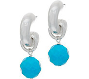 Simon Sebbag Sterling Silver Electroform & Gemstone Drop Earrings - J351038