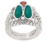Stephen Dweck Sterling Silver & Gemstone Petite Scarab Ring - J354838