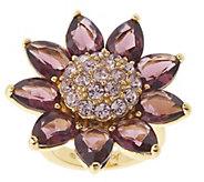 As Is Joan Rivers Stunning Crystal Petal Flower Ring - J356238