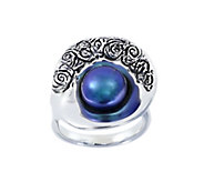 Hagit Sterling Cultured Freshwater Pearl ShellRing - J378138