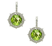Judith Ripka Sterling Peridot Lever Back Earrings - J379738