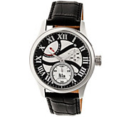 Reign Bhutan Automatic Watch - Silvertone/Black - J380338
