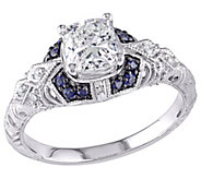 Affinity 14K Gold 1 cttw Diamond w/ Sapphire Vintage Ring - J381338