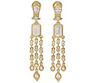 Judith Ripka 14K Clad Diamonique Dangle Earrings - J381438