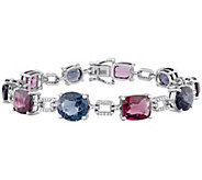 14K Gold 26.00 cttw Multi-Color Spinel & Diamond Bracelet - J382338