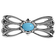 American West Sterling Turquoise Butterfly Pin - J382638