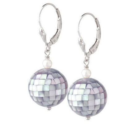 Ross-Simons Sterling Mosaic Abalone Bead Drop Earrings