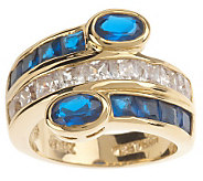 Jacqueline Kennedy Simulated Sapphire Triple Row Ring - J154839