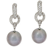 Honora Ming Cultured Pearl White Topaz Sterling Earrings - J261039