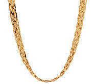 Veronese 18K Clad 18 Polished Braided Necklace - J269139