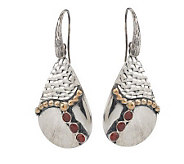 Andrea Brodi Sterling Pear Shape Gemstone Drop Earrings - J271839