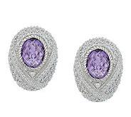 Judith Ripka Sterling Monaco Bezel Set Gemstone Earrings - J273739