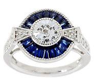TOVA Diamonique Simulated Blue Sapphire Ring, Sterling - J281139