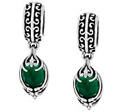 Carolyn Pollack Anthology Sterling Set of 2 Green Agate Beads - J288139