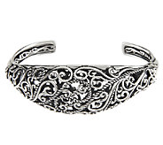 Carolyn Pollack Signature Sterling Domed Hinged Cuff 32.0g - J292739