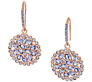 Graziela Gems Tanzanite 18K/Sterling Drop Earrings 6.00 ct tw - J295339