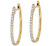 Oval Diamond Hoop Earrings 14K Gold 1/2 cttw by Affinity - J295639