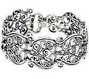 Carolyn Pollack Sterling Silver Signature Link Avg. Bracelet, 51.0g - J296039