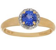 0.50 ct tw Ceylon Sapphire & Diamond Ring 14K Gold - J296539