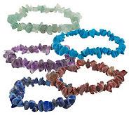 Lee Sands S/5 Gem Stretch Bracelets - J302739