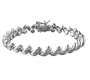 UltraFine Silver 8 Polished San Marco Bracelet18.8g - J305639