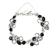 Or Paz Sterling Roman Glass & Gemstone Bracelet - J306739