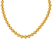 Oro Nuovo 20 Round Bead Magnet Clasp Necklace, 14K - J318239