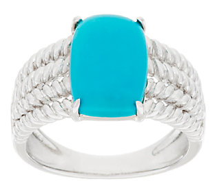 Sleeping Beauty Turquoise Rope Design Sterling Silver