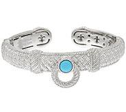 Judith Ripka Sterling Door Knocker Turquoise Cuff Bracelet - J319939