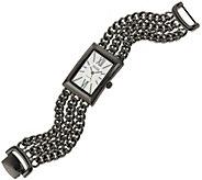 Ecclissi Sterling Silver Multi-Strand Bracelet Watch - J320639