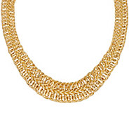 VicenzaGold 18 Graduated Double Row Woven Necklace, 14K Gold 28.0g - J320939