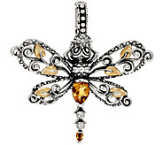 Barbara Bixby Sterling & 18K Multi-Gemstone Dragonfly Enhancer - J321939