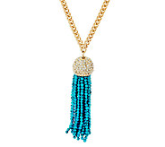 BaubleBar Beaded Tassel Pendant Necklace - J322339