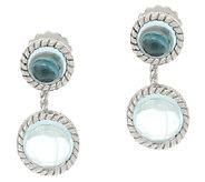 Judith Ripka Sterling Gemstone Cabochon Earring Jackets - J322839