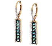 Alexandrite & Diamond Stick Design Earrings 14K, 0.60 ct tw - J323139