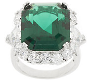 The Elizabeth Taylor 15.70 cttw Simulated Emerald Ring - J323339