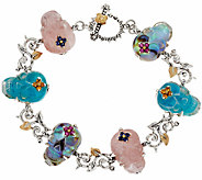 Barbara Bixby Sterling & 18K Gemstone Skull 8 Bracelet - J323639