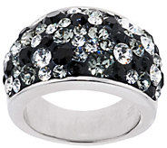 As Is Bronzo Italia Bold Domed Shades of Crystal Ring - J325839