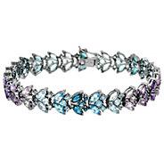 Marquise Multi-Gemstone Tonal 8 Tennis Bracelet 16.00 cttw - J326839