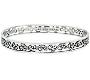 Sterling Silver Lace Design Bangle by Or Paz, 14.50g - J328039
