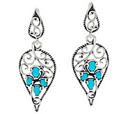 Carolyn Pollack Sleeping Beauty Turquoise Sterling Earrings - J328239