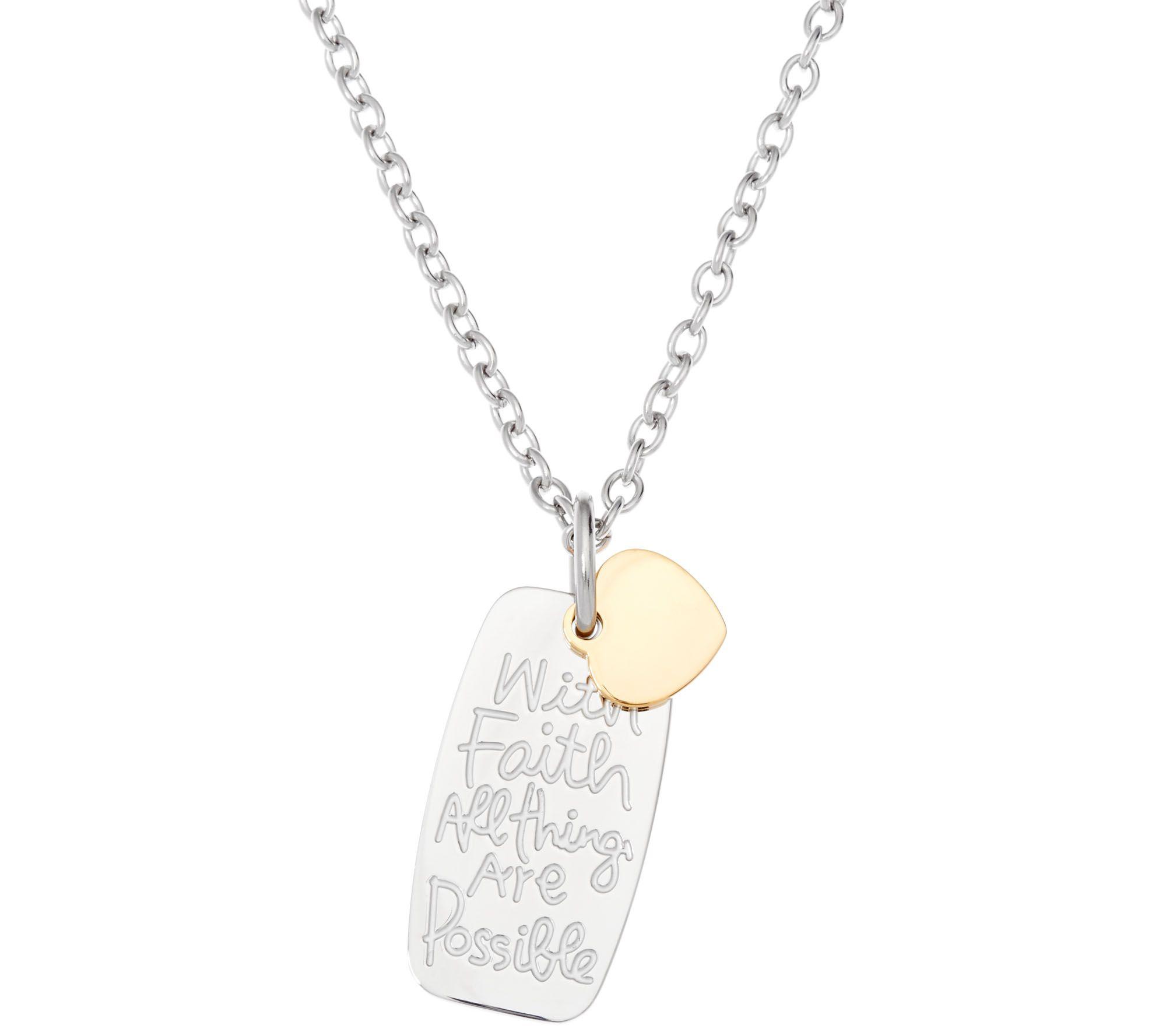 New Stainless Steel Zodiac Dog Tag Pendant Men S Women S: Stainless Steel Inspirational Dog Tag Necklace