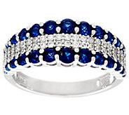 Diamonique & Simulated Gemstone Graduated Band Ring, Sterling - J331339