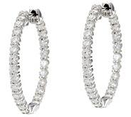 Round Diamond 1 Hoop Earrings, 18K, 2.00 cttw, by Affinity - J331539