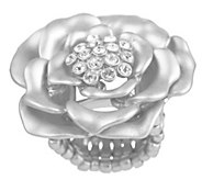 As Is Susan Graver Crystal Accent Signature Rose Ring - J333339