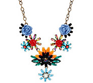 As Is Joan Rivers Hanging Garden Statement Necklace w/ 3 - J334239