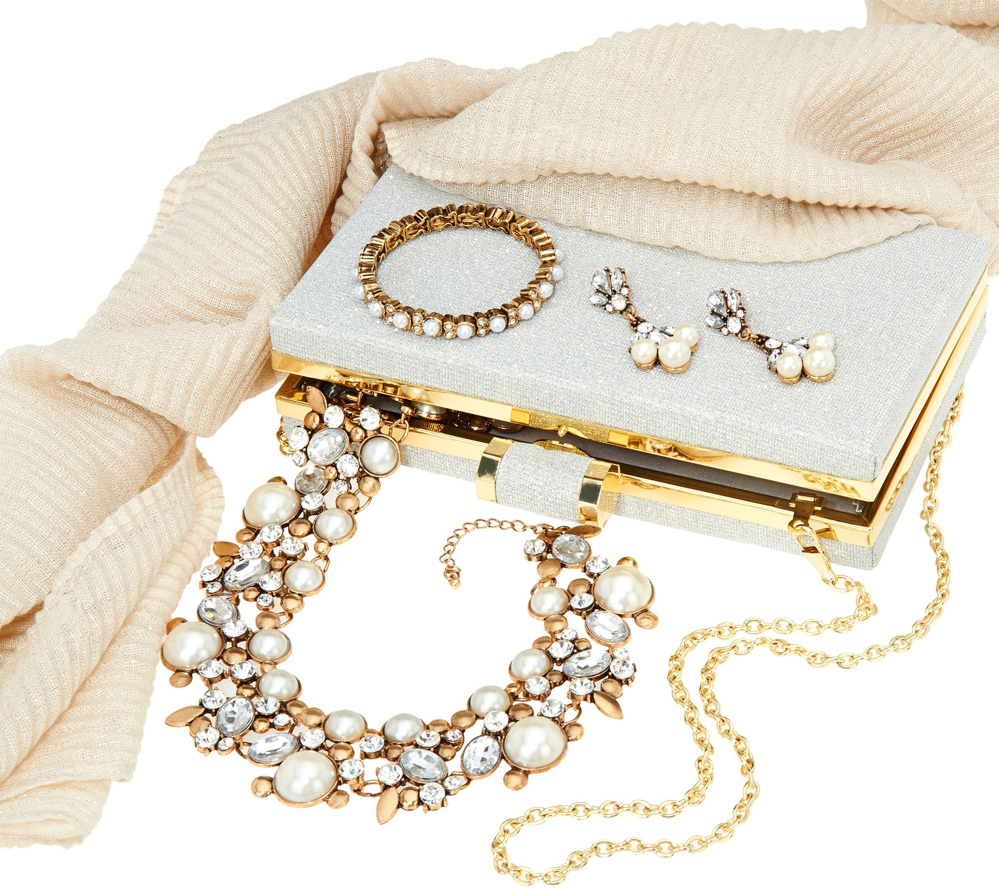 Charming Charlie Holiday Jewelry Accessory Set Page 1 QVCcom